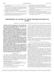 disparities in access to liver transplantation in spain - Organización ...