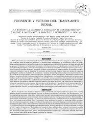 Presente y futuro del trasplante renal - Organización Nacional de ...