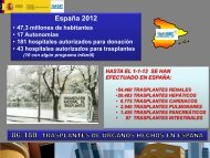 Datos 2012.pdf - Organización Nacional de Trasplantes