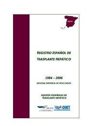 Memoria RETH 2006 - Organización Nacional de Trasplantes