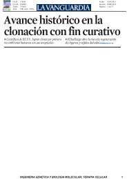 La Vanguardia 16 MAY - Organización Nacional de Trasplantes