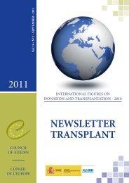 Newsletter transplant - Organización Nacional de Trasplantes