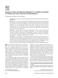 European Union and Spanish Regulations on Quality and Safety of ...