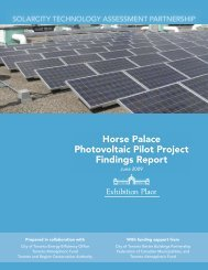 Horse Palace Photovoltaic Pilot Project Findings Report