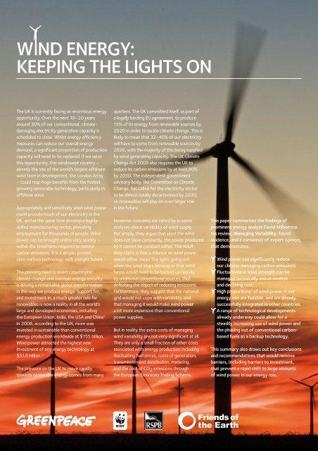 Managing [Wind Power] Variability