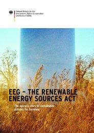 EEG – THE RENEWABLE ENERGY SOURCES ACT