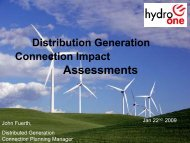 Distribution Generation Connection Impact Assessments
