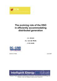 The evolving role of the DSO in efficiently accomodating distributed ...