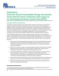 OSEA Submission to OPA on IPSP Consultation