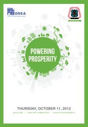 Powering Prosperity Evening Program Booklet - OSEA