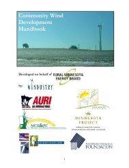 Community Wind Development Handbook - Southwest Initiative ...