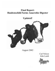 Haubenschild Farms Final Report - The Minnesota Project