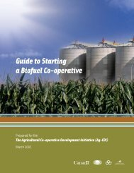 Guide to Starting a Biofuel Co-operative - Canadian Co-operative ...