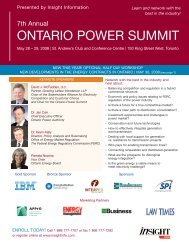 ONTARIO POWER SUMMIT - OSEA