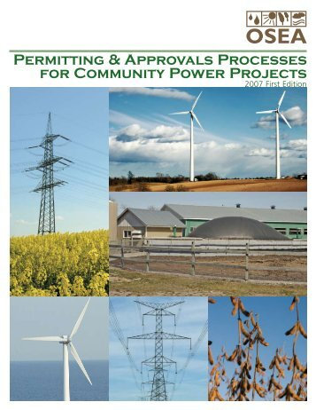 Permitting & Approvals Processes for Community Power ... - OSEA