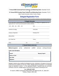 Delegate Registration Form - OSEA