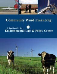 Community Wind Financing Handbook - Environmental Law and ...