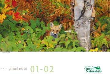 annual report - Ontario Nature