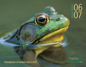 Annual report copy - Ontario Nature