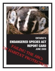 FAILING THE ABC OF HABITAT PROTECTION - Ontario Nature