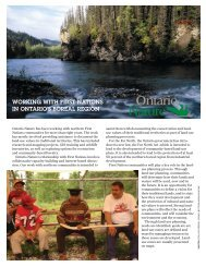working with first nations in ontario's boreal region - Ontario Nature