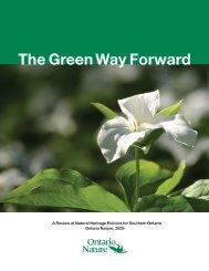 The Green Way Forward - Ontario Nature