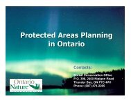 Why Do We Need Protected Areas? - Ontario Nature