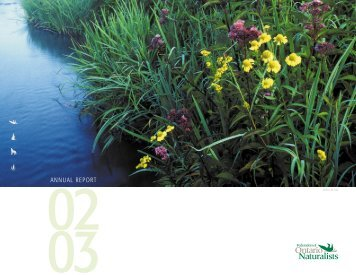 ANNUAL REPORT - Ontario Nature