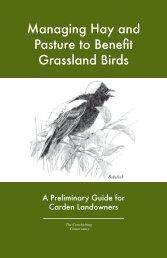 Managing Hay and Pasture to Benefit Grassland Birds - Ontario Nature