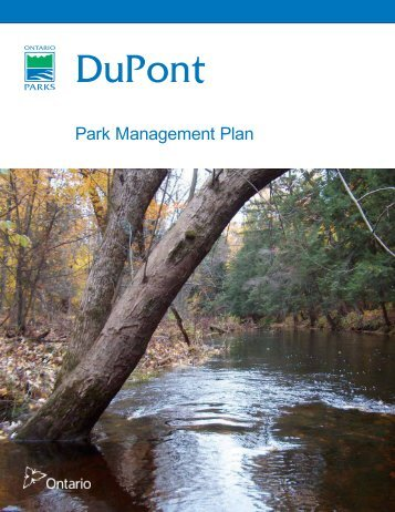 A Template for Park Management Plans - Ontario Parks