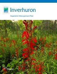 Vegetation Plan - Ontario Parks