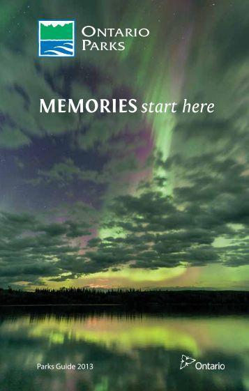 MeMoriesstart here - Ontario Parks