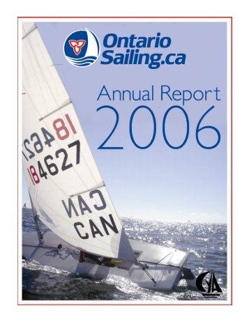 2006 Annual Report - Full Version.pub - Ontario Sailing Association