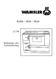 Kohle – Holz – Herd - Wamsler