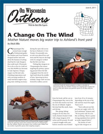 A Change On The Wind, June 2011 - On Wisconsin Outdoors