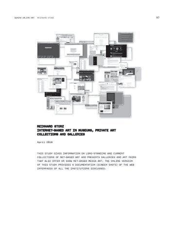 reinhArd StOrz internet-BASed Art in MuSeuMS ... - Owning Online Art