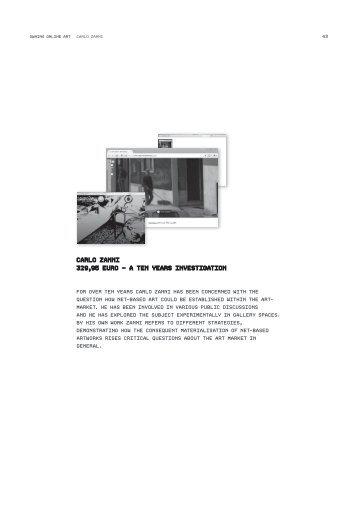 CArlO ZAnni 329,95 eurO – A ten YeArs ... - Owning Online Art