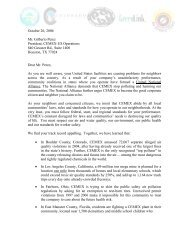 Letter to the President of CEMEX - OoCities