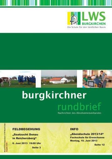 Rundschreiben Juni 2013 - Landwirtschaftliche Berufs- und ...