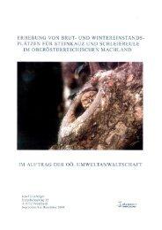 Erhebung von Brut- und Wintereinstandsplätzen für Steinkauz - Oö ...