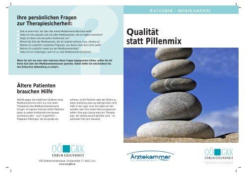 Ratgeber Medikamente: Qualität statt Pillenmix