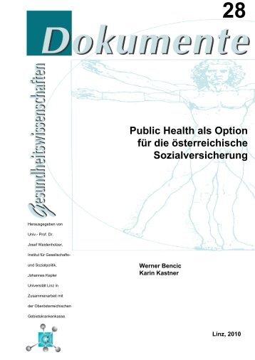 Public Health als Option für die österreichische ... - OÖGKK