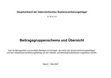 Beitragsgruppenschema 2007