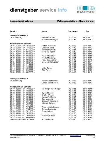 dienstgeber service info