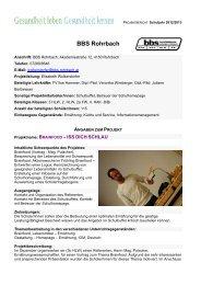 BBS Rohrbach_Brainfood – ISS DICH SCHLAU