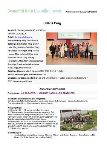 BORG Perg_Schulgarten – Zukunft nachhaltig gestalten - OÖGKK