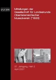 Mitteilungen der Gesellschaft für Landeskunde Oberösterreichischer ...
