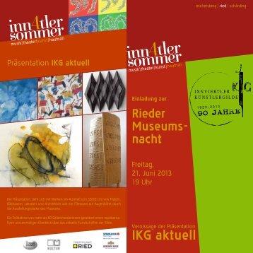 Folder Rieder Museumsnach 2013
