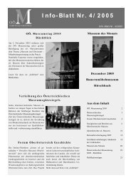 Museumsinfoblatt Nr. 04/2005 - Oberösterreichischer ...