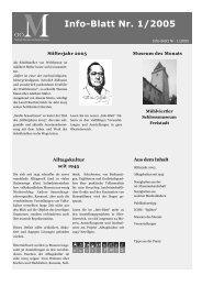 Museumsinfoblatt Nr. 01/2005 - Oberösterreichischer ...